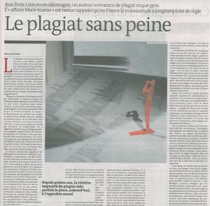 LE PLAGIAT SANS PEINE. LE MONDE.23-09-2011