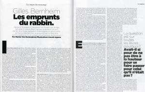 Gilles Bernheim Mag Le Monde n°100