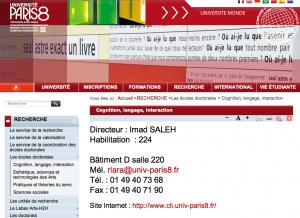 """Imad SALEH, directeur de l'école doctorale """"Cognition, langage, interaction""""."""