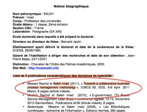 Cet article plagiaire s'affiche sur le site internet de la Commission permanente du Conseil national des universités (www.cpcnu.fr) en toute connaissance de sa nature par les membres du bureau de la CP-CNU.