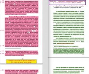"""Les """"insuffisances de citations"""" : – à gauche, l'ouvrage de Placide Moudoudou (2012) – à droite, la thèse de Sylvie Torcol (2002)"""